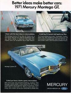 1971 Mercury Montego Cyclone GT Blue 2-door Coupe 1970 Vintage Ad