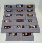 Super Nintendo Video Game Lot...See Drop Down Menu for Title Names