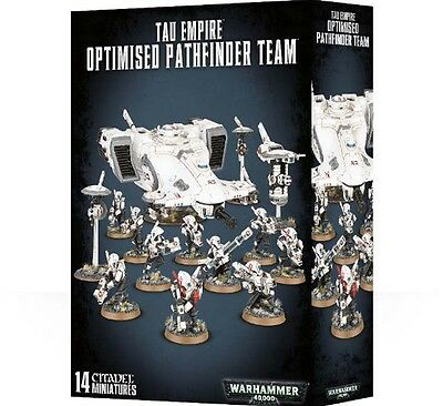 40K ARMOURED ASSAULT TAU EMPIRE OPTIMIZED PATHFINDER TEAM     SHRINK /Free Ship