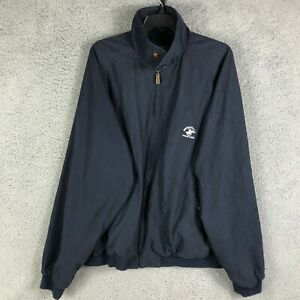 Beverly Hills Polo Club Windbreaker XL Mens Navy Blue Full Zip Front Polyester