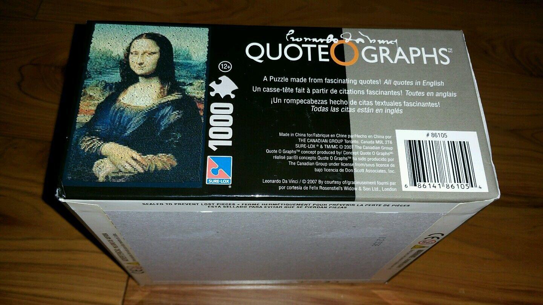 Cita Nueva o Gráficos Mona Lisa 1000 1000 1000 Piezas Puzzle por Sure-Lox con Pared Cartel 2b271c
