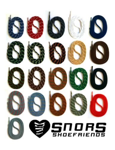 4 Lengths SAFETY OUTDOOR SHOELACES SNORS shoefriends DARK GREEN // OLIVE