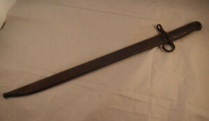 WW2-Japanese-Kokura-Hooked-Quillon-Bayonet-amp-Steel-Scabbard-Rare-Quality