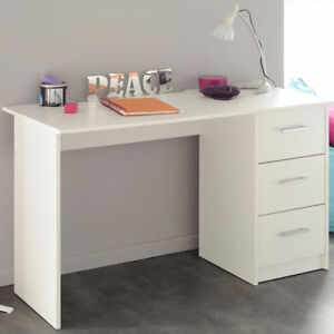 schreibtisch computertisch pc tisch home office b ro weiss neu ebay. Black Bedroom Furniture Sets. Home Design Ideas