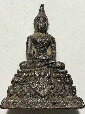 PHRA YODTHONG LP RARE OLD THAI BUDDHA AMULET PENDANT MAGIC ANCIENT IDOL#16