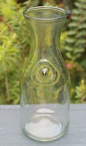 Vintage-Paul-Masson-10-034-Glass-Wine-Carafe-Embossed-Since-1852-Decanter-Pitcher