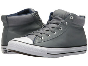 High Uomo 5 Pelle Street Grigio Nib 11 All Converse Star Taglie Sneaker Medio In qavgtRxvw