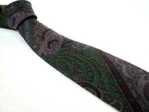 LUCIANO-BARBERA-Tie-75-Wool-25-Silk-Blend-Matte-Paisley-Vintage-Trendy