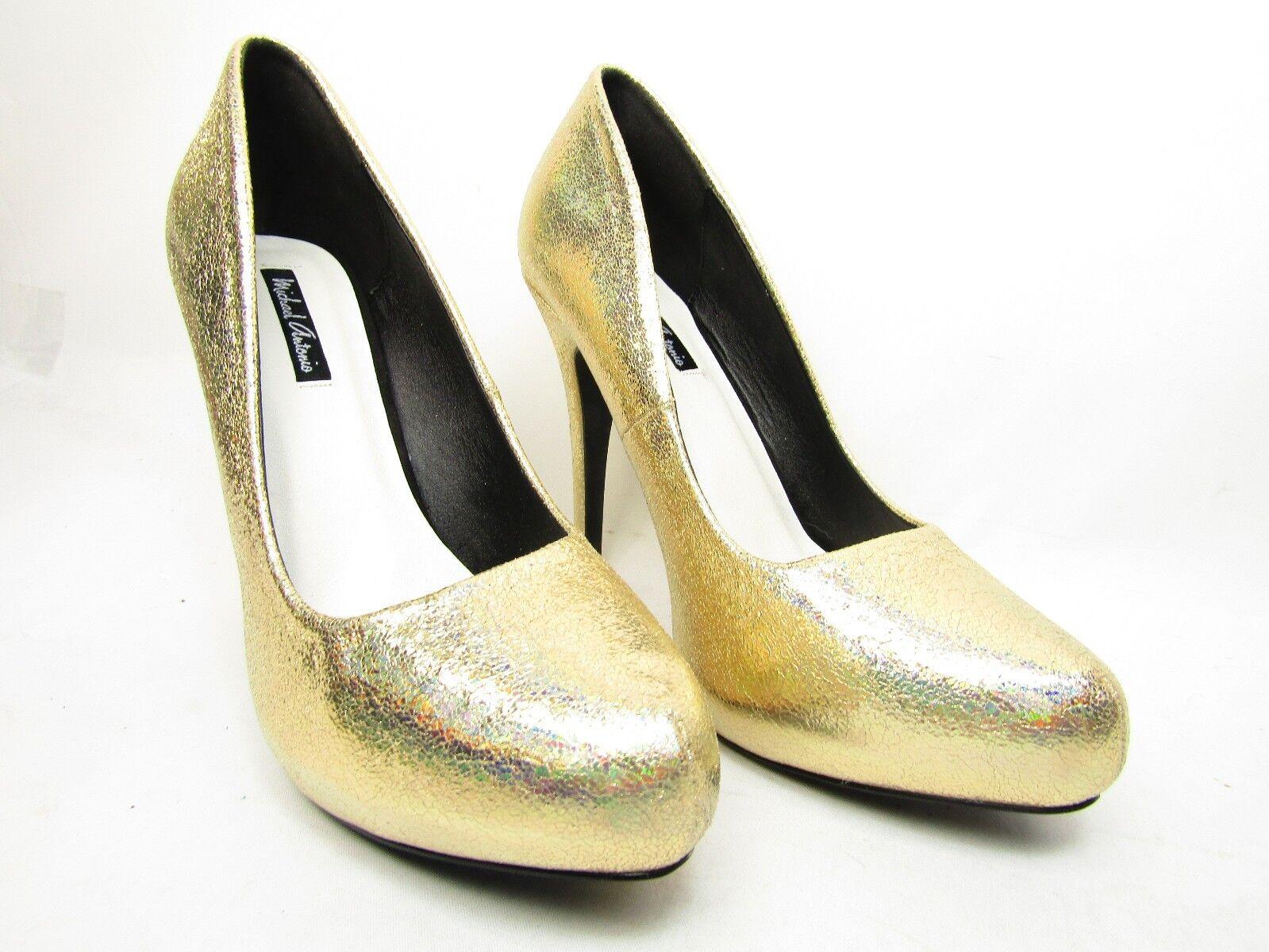 damen Michael Antonio Launey Pumps Gold Met Größe 8.5 8.5 8.5 54ff7e