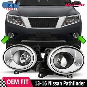 fits 2013-2016 PATHFINDER Front Bumper PASSENGER Fog Light Ring Trim Grille