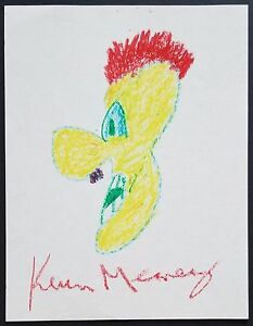 KEVIN MEANEY SIGNED ORIGINAL CHARITY DOODLE SKETCH ART STAND-UP COMEDIAN ACTOR