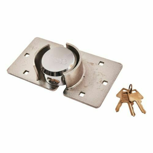 73 mm Heavy Duty shackless cadenas et Moraillon Set Gate Shed Van Sécurité Round Lock