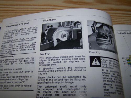 NEW MB-trac 443 1300 1400 1600 Turbo Factory Operating Instruction Manual