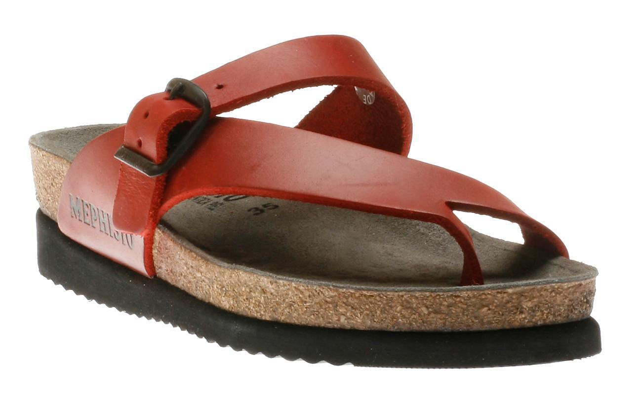 Mephisto Helen Red Scratch Waxy Comfort Sandal Womens Sizes 35-42 NEW