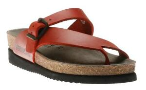436571370a2 Image is loading Mephisto-Helen-Red-Scratch-Waxy-Comfort-Sandal-Womens-