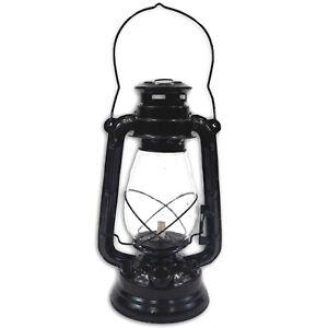 Hurricane Lantern Oil Lamp Black Finish, Decorative Hurricane Lamps Black