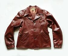 "STUNNING LEVI X AERO LVC LEATHER "" HALF BELT "" 1930's MOTORCYCLE JACKET - £700"