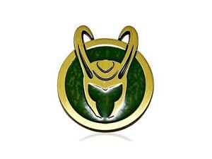 Official Marvel's LOKI HELMET PIN, Disney+ LOKI Helmet SYMBOL Enamel Lapel Pin