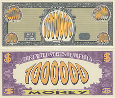 Two Play Money $1,000,000 Novelty Money Bills # 199