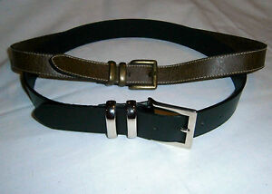 La foto se está cargando Dos-bonito-cinturones-1-Negro-Amanda-Smith-amp- 0cd4d1d1b6ad