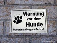 Warnung vor dem Hunde,12 x 8 cm,Gravur,Schild,Hundeschild,Türschild,Warnung