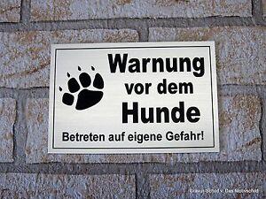 GüNstiger Verkauf Warnung Vor Dem Hunde,12 X 8 Cm,gravur,schild,hundeschild,türschild,warnung Dekoration Türschilder