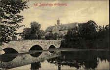 Grillenburg Sachsen Sächsische Schweiz AK 1910 Teich Brücke Schloss Jagdschloss