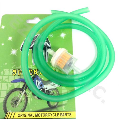 "GREEN GAS FUEL LINE 39/"" /& FILTER GY6 SCOOTER ATV QUAD VIP JMSTAR VENTO BELLO JCL"