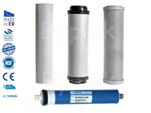 4 Stage Reverse Osmosis RO Unit Complete Filters Replacement Set 150GPD Membrane