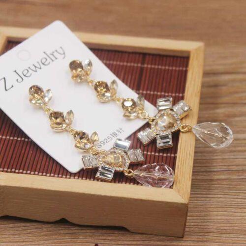Último estado de cuenta de gran tamaño sin colgantes pendientes de perlas Cruz Cristal P/&P
