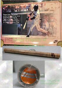 NITF-Factory-Sealed-NIKE-Baseball-Poster-Hitting-Machine-Tony-Gwynn-Padres