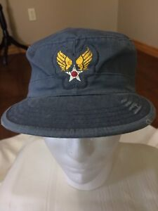 Cap Combat Blue M Private hat with military wings embroidered patch ... 75cc09dec8a