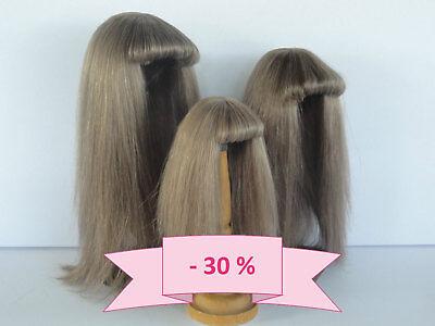 -30% Promo - Parrucca Per Bambola T14 (43cm) 100% Capelli Naturali G.bravot