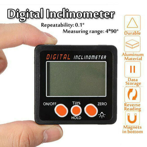Magnetic Base Digital Protractor Angle Gauge Finder Inclinometer Bevel Box