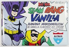 Batman Slam Bang Vanilla Ice Cream FRIDGE MAGNET Vintage Style Ad Robin