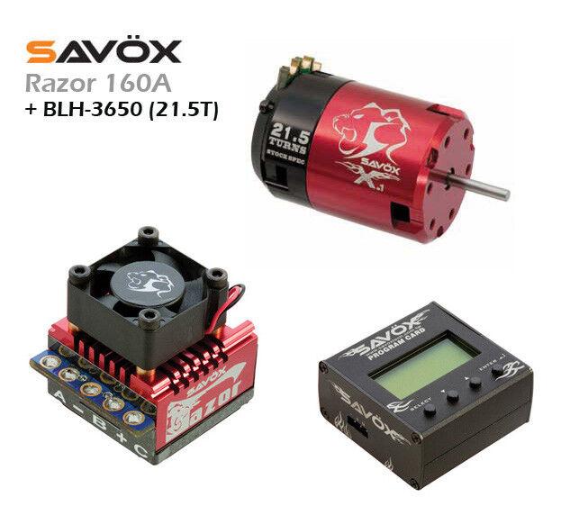 ESC  RAZOR 160A  + PROG. CARD + BLH-3650  21.5T