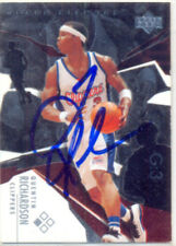 QUENTIN RICHARDSON LOS ANGELES CLIPPERS SIGNED CARD MAGIC TORONTO RAPTORS KNICKS