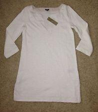 JCrew Knit Tunic Dress for beach / pool Size XXS Ivory Retail $78 NWT!