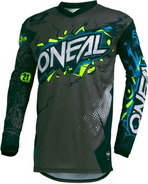 O/'Neal Element Kinder Jersey ATTACK schwarz Kids Trikot MX DH MTB BMX Motocross