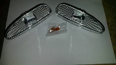 Mazda RX7 FD3S (92-96) Crystal Clear Chrome Front Bumper Side Marker - Pair