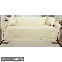 Classic Slipcovers Machine-washable Cotton Duck Sofa Slipcover