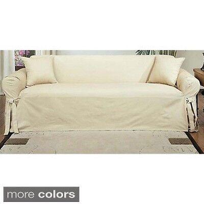 Machine-Washable Cotton Duck Sofa Slipcover