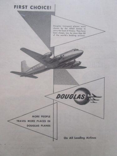 7//1946 PUB DOUGLAS AIRCRAFT DC AIRLINER AIRLINES ORIGINAL AD