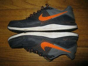Nike-Dual-Fusion-X-Boys-Men-039-s-Size-6-Black-Orange-Gray-Sneakers-Athletic-Shoes