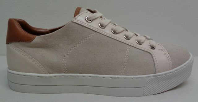 b126e93e767 Coach Size 6.5 M PADDY Chalk Suede Platform Fashion Sneakers New Womens  Shoes