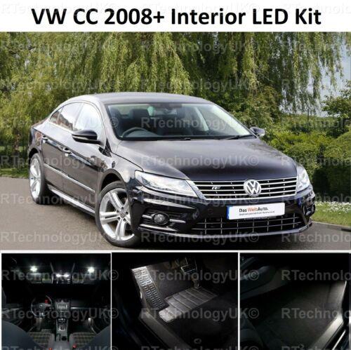 PREMIUM VW 2008 CC LED INTERIOR UPGRADE LED WHITE XENON KIT ERROR FREE CANBUS