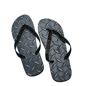 Para Hombre Diseño de Chapa Estriada Flip Flop (X52-Checker)