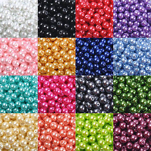 Top-Quality-Czech-Glass-Pearl-Round-Beads-Choose-4MM-6MM-8MM-amp-10MM