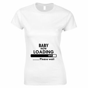 0da223be0 Image is loading Baby-Now-Loading-Funny-Maternity-Pregnancy-Top-Womans-