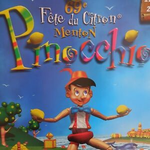 N2255-Poster-69e-Fiesta-Lima-Menton-Pinocchio-Francesa-Riviera-Art-Decorado-Pn